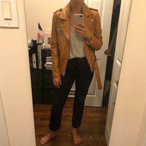 3.1 Philip Lim camel  Lamb leather jacket